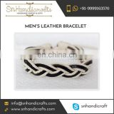Men's Leather Bracelet in Attractive Design and Colors