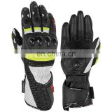Motorcycle Gloves for Men, Leather Summer Motorbike Gloves HLI Orange Black, Motorbike Wears | Motorbike Gloves, black and orang