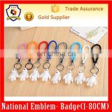Promotional handmade custom braided leather Baymax keychain/Big Hero 6 Keychain