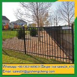 PVC coated garden wrought iron fence design for sale