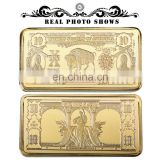 WR 1901 USD 10 Bill Pure Gold Bar Home Decorative American Banknote Gold Art Crafts 24k Gold Bar Ornament wholesale price