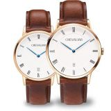 Genuine leather watch stainless steel watch fashion watch