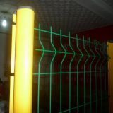 10 Gauge Wire Fence Galvanized Steel Welded Wire Fence Pvc Coated Curved Wire Mesh Fence Image
