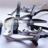Horse Mouth Gag / Speculum with Genuine Leather Straps - Equine Dental Speculum - SE Horse Speculum (High Quality)