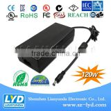 Professional power adapter DC 12V 10A 120W for LED Strip LCD Monitor with IEC/EN 61558 61347 60335
