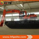 Swamp excavator in Hefei Anhui heavy consruction machinery floating excavator of China suplier