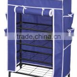 JH-X04 shoe rack, steel net rack for shoes, non-woven shoe rack                                                                         Quality Choice