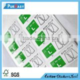 waterproof die cut printing self adhesive paper label sticker                                                                         Quality Choice