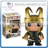 Mini Qute Funko Pop Marvel Avenger super hero Captain Loki America action figures cartoon models educational toy NO.FP 36