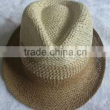 Wholesale price top quality paper straw hat sombrero hat with leather band 2016
