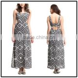 2015 China manufacturer customized ladies Irregular high-cut evening maxi dress                                                                         Quality Choice