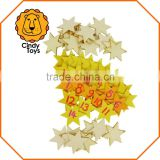 DIY Wooden Craft Hanging Ornaments Little Stars set of 24 for Christmas