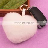 Real Rabbit Fur Keychian Cute Genuine Leather Fur Car Key Rings