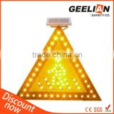 Solar Sign Lamp LED Traffic Warning Light for Cross Road