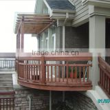 fashion staircase indoor/outdoor solid wood railing and fence designs