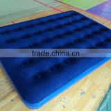 hot selling PVC inflatable flocked air bed/comfortable inflatable air filled flocked bed