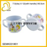 kids melamine mug double handle melamine kids cup                                                                         Quality Choice