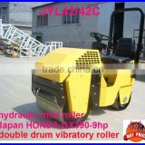mini rollers,vibratory,ride-on double drum road compactor,Japan engine and bearing 9HP,CE certification