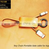 2016 new design usb cable keychain for Apple Charging Notebook Portable Charger USB Cable