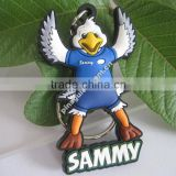 Factory Directly Customized Soft PVC Flappy Bird Keychains With Embossed Logo