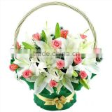<b>wicker</b> flower gift basket