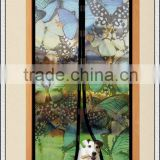 Butterfly Print Magic Mesh Butterfly Design Magnetic Screen Door As Seen On TV Hands Free Screen Door