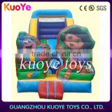 small dora theme inflatable slide for kids