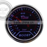 Motor Spare Parts Car 52mm Car Universal Pointer Bar Turbo Boost Gauge Meter Smoke Tint Len LED