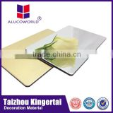 Alucoworld Golden Silver Mirror finsh reflective aluminum sheet acm panel building material