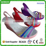 Latest Summer Plastic New Model Woman Wedges Sandals