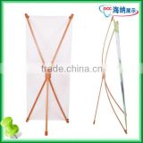 Bamboo X-frame Stand, X Banner Stand for Advertisement, Portable