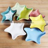 Lovely Fashion Candy Colors Sea Star Glaze Ceramic Bowl #we6