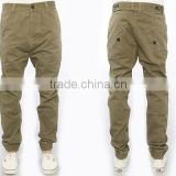 Wholeasle cotton twill casual pants slim fit cotton chino pants for men