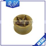 Safe Material Bamboo Wood Ear Tunnel Ear Gauges Earrings Body Piericng Jewelry
