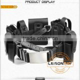 Leather Tactical Belt With Pouches Attached Pouches Are With Leather Material For Military