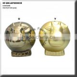 chrome plating ceramic cow money box