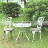 $78.00/set, FOB Shenzhen, Cast aluminum table/chair, All metal furniture, outdoor coffee table