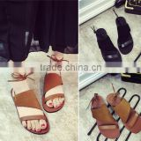 New fashion 2016 ladies flat summer sandals sandals photo for women