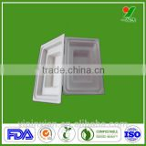 Custom Equipment Cushion Protective Battery Charger Biodegradable Black Moulding Pulp/Fiber Trays Packing