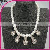 The big fashion necklace diamond pendant freshwater pearl necklace