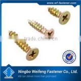 High quality yellow zinc plated screw conveyor for concrete ningbo fastener manufacturers suppliers exporters