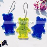 bear shape reflective keychain with logo printing for promotion                                                                         Quality Choice