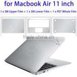 3 PCS 4H Surface Anti-scratch Screen Protector Protective Film Case Cover Kit for 11 inch Macbook Air