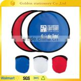 Hot selling 2015 foldable/folding round nylon frisbee fan                                                                         Quality Choice