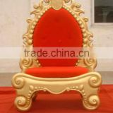Fiberglass Christmas throne/Gold with Red King Chair