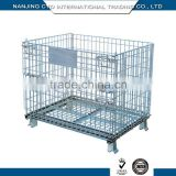 Factory Price Powder Coated Foldable Wire Mesh Roll Cage Container