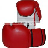 red & white Leather Boxing Gloves /Foam Mould Core Kick Boxing Gloves