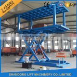 2016 hot fixed scissor lift platform stationary table car hydraulic lift car hoist scissor auto lift