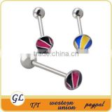 fashion stainless steel custom tongue rings