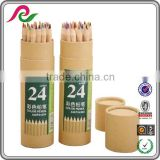 Round box with full color printing for pencils packing Cylinder gift box